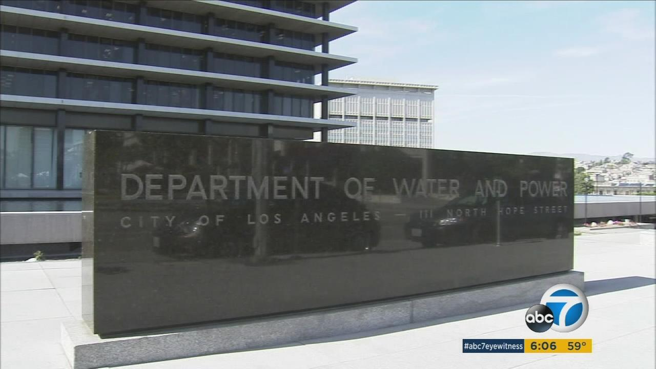A Los Angeles Department of Water and Power building.