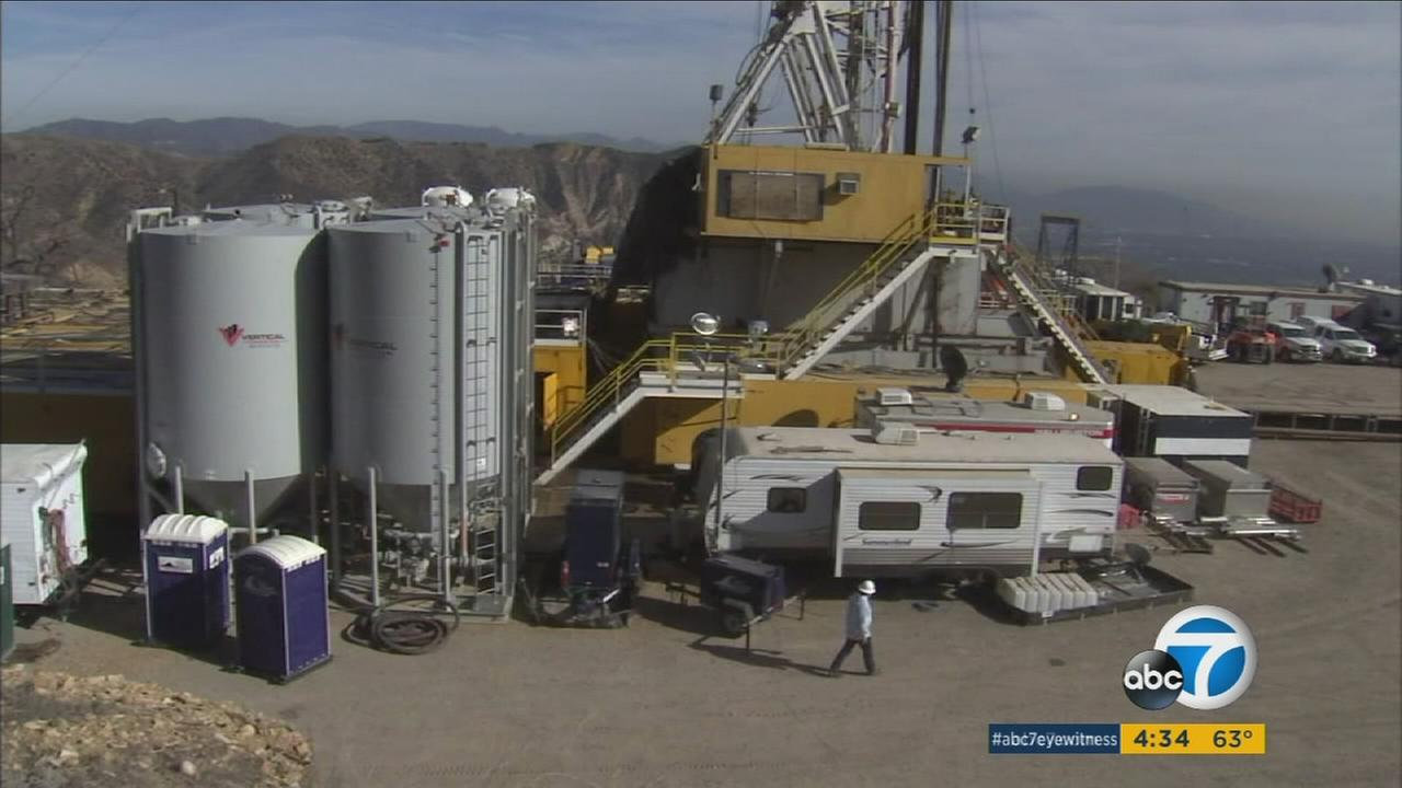 Southern California Gas Company workers are at the site of a gas leak in Porter Ranch.