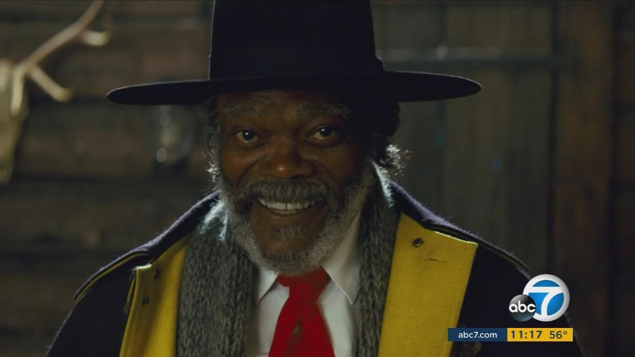 Samuel L. Jackson is shown in an scene from the upcoming Quentin Tarantino movie, The Hateful Eight.