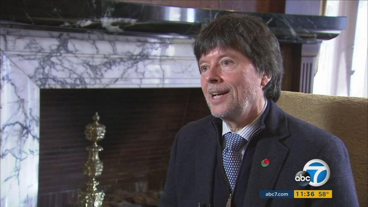 Documentary filmmaker and Rose Parade grand marshal Ken Burns speaks with Eyewitness News before the parade on New Years Day.