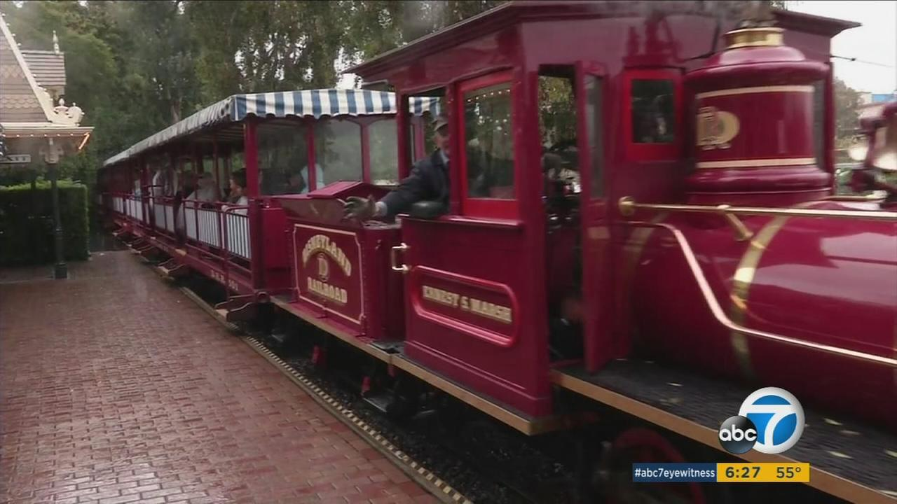 Disney announced the iconic Disneyland Railroad will be temporarily closed for construction on the new Star Wars Land beginning on Monday, Jan. 11, 2016.