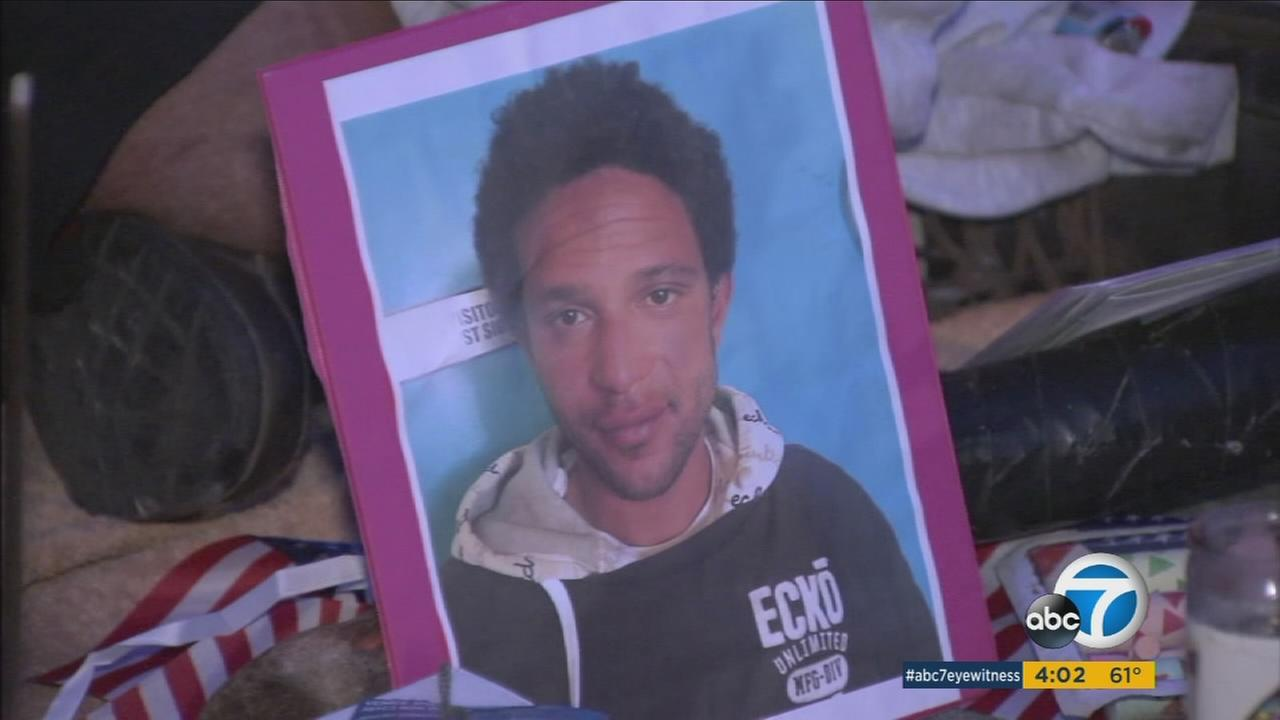 Brendon Glenn, who was shot and killed by an LAPD officer during a controversial confrontation, seen in a photo at a memorial.