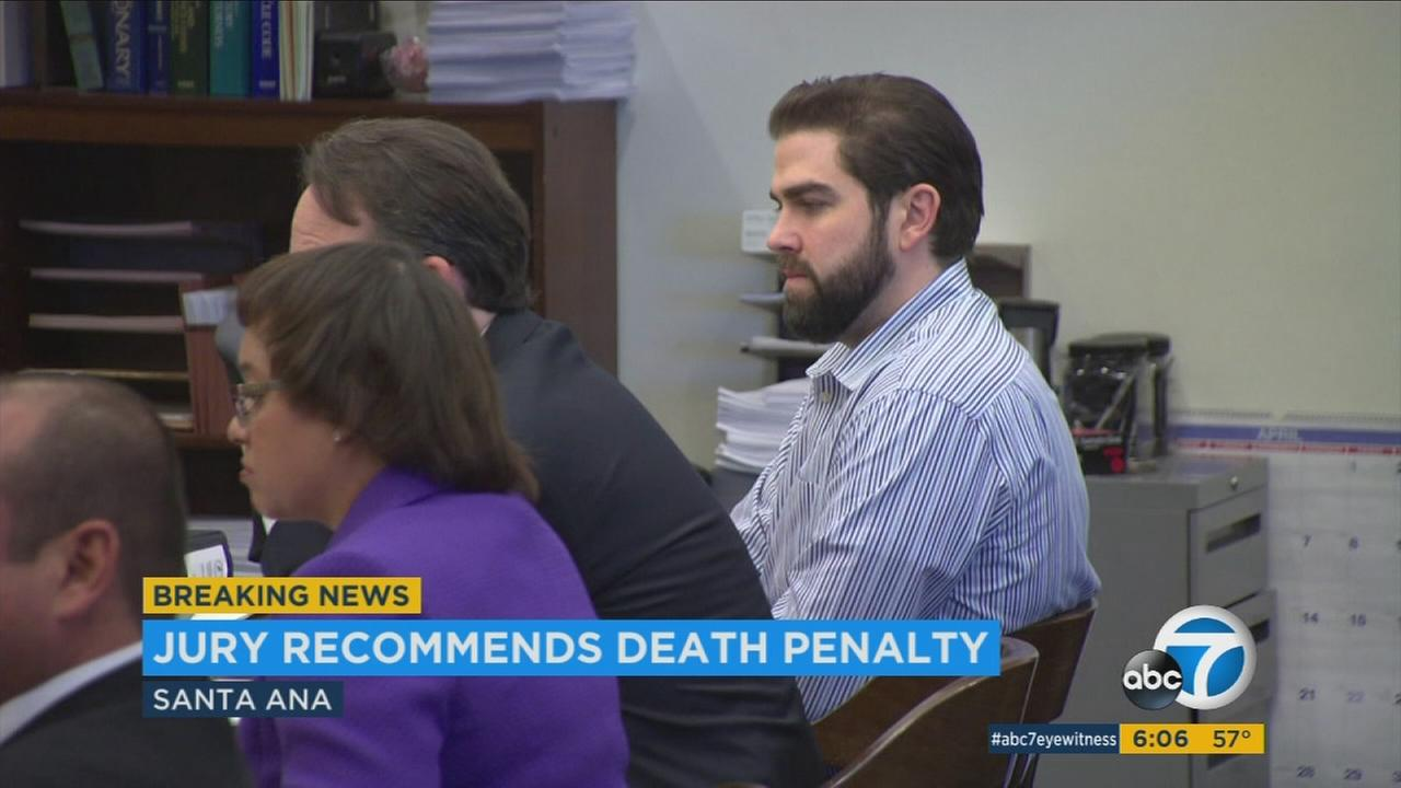 A jury recommended the death penalty for Daniel Wozniak on Monday, Jan. 11, 2016.