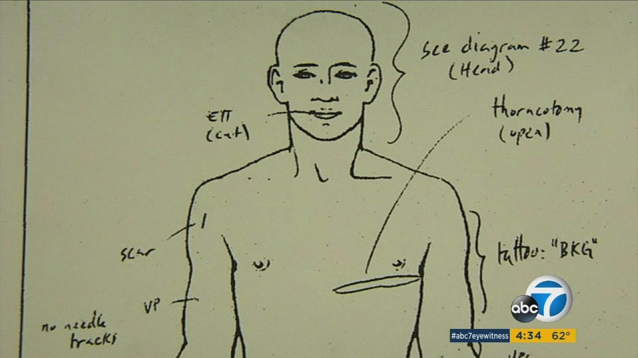 An illustration shows where homeless man Brendon Glenn was shot by an LAPD officer in Venice, Calif.