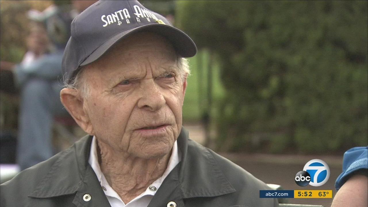 John Shear, a Santa Anita Park employee who is turning 95 on Sunday, Jan. 17, 2016.
