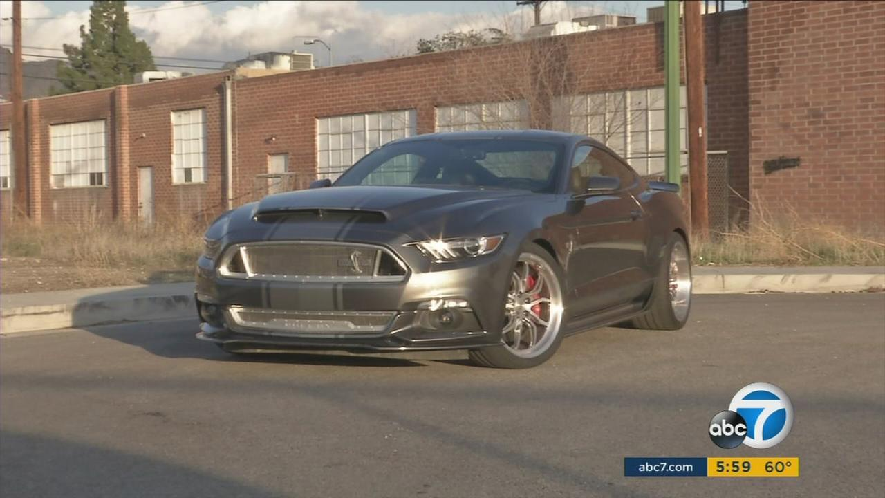 The Shelby Super Snake pumps more than 750 horsepower out of the Mustang GTs V8 with a massive Whipple supercharger.