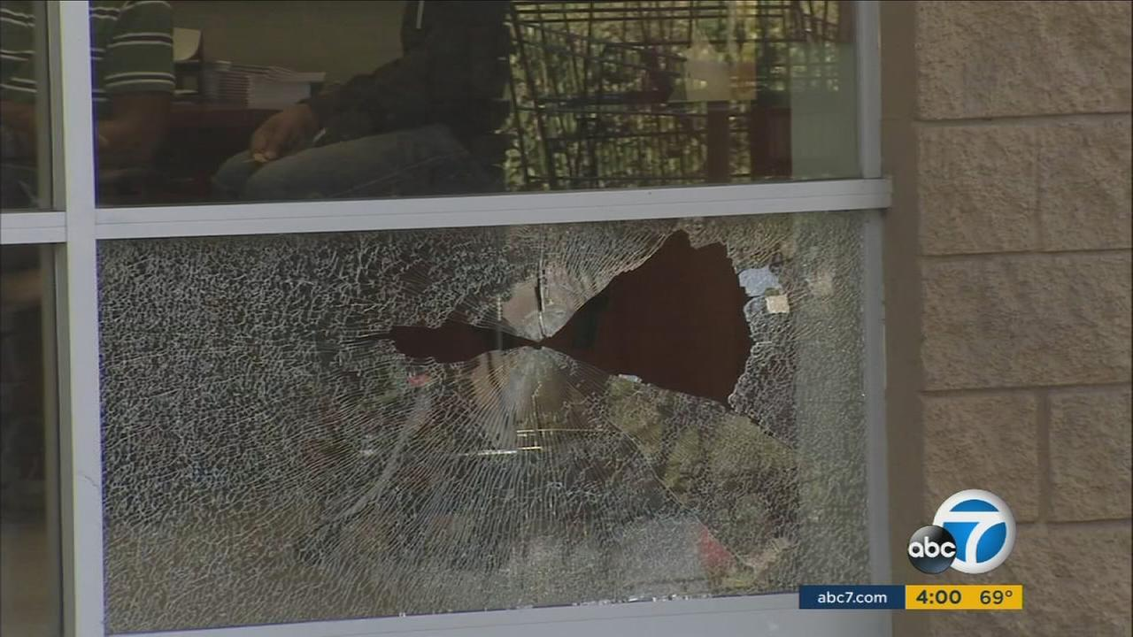 Shots were fired during a bank robbery involving four suspects in Culver City Thursday, prompting a massive police response.