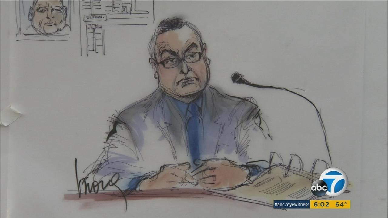 Mens Central Jail chaplain Paulino Juarez is shown in a court sketch during testimony on Thursday, Jan. 21, 2016.