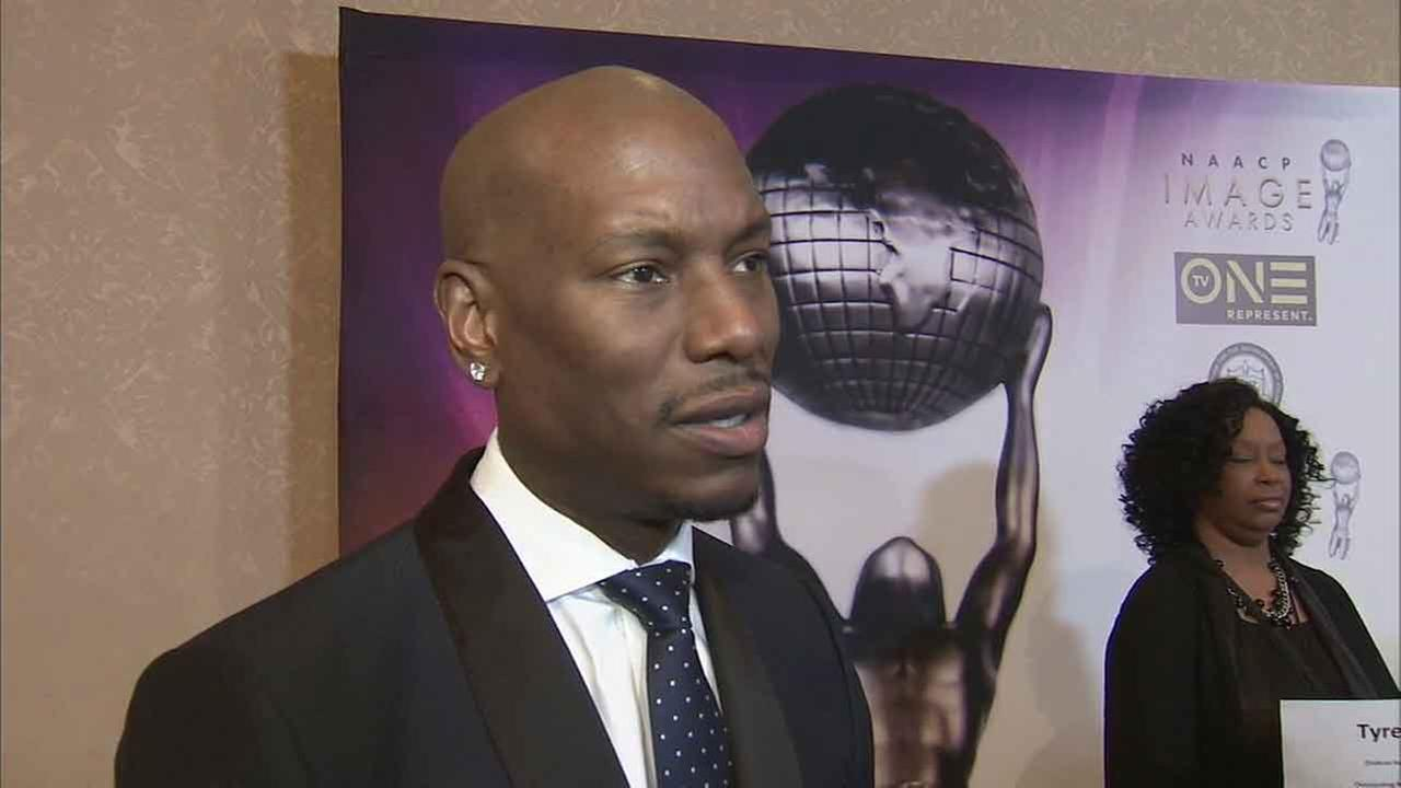 Actor Tyrese Gibson speaks out about the Oscars boycott while attending the NAACP Image Awards luncheon on Saturday, Jan. 23, 2016.