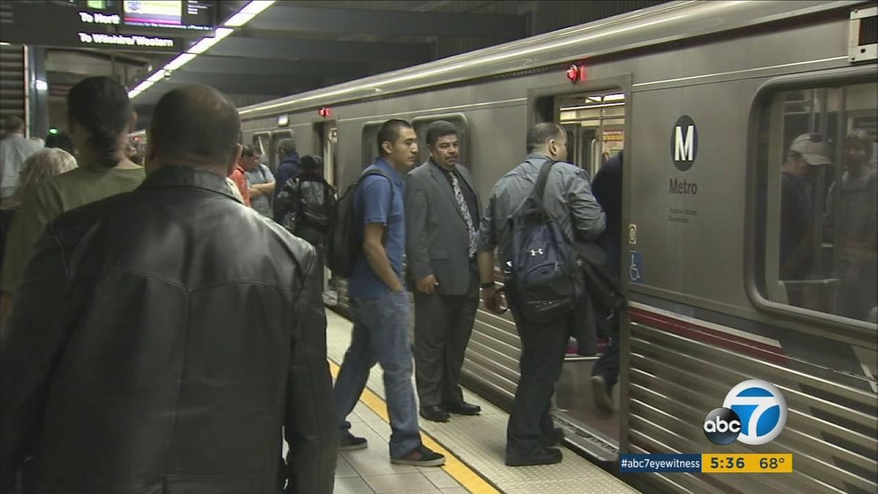 File photo of Metro riders.