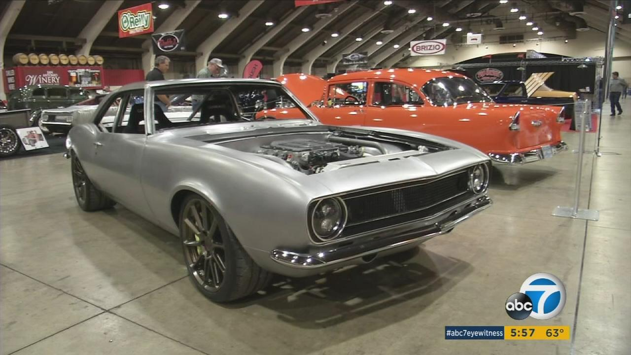 Cars featured at the Grand National Roadster Show at the Pomona Fairplex in January 2016.