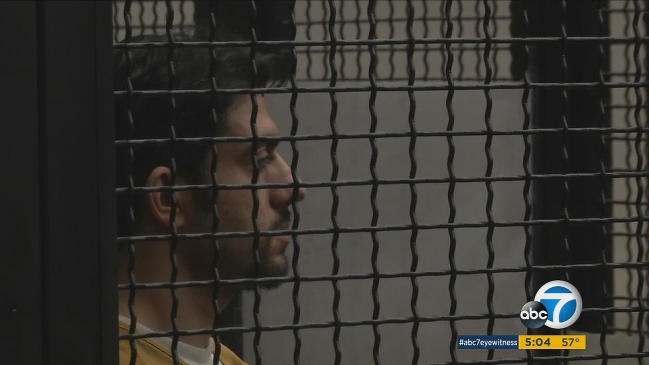 Hossein Nayeri, the 37-year-old alleged mastermind behind the Orange County jail escape appears in court on Tuesday, Feb. 2, 2016.