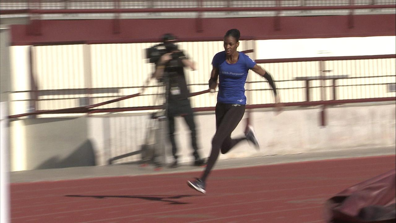 Dee Dee Trotter, 33, trains for the Summer Olympics.
