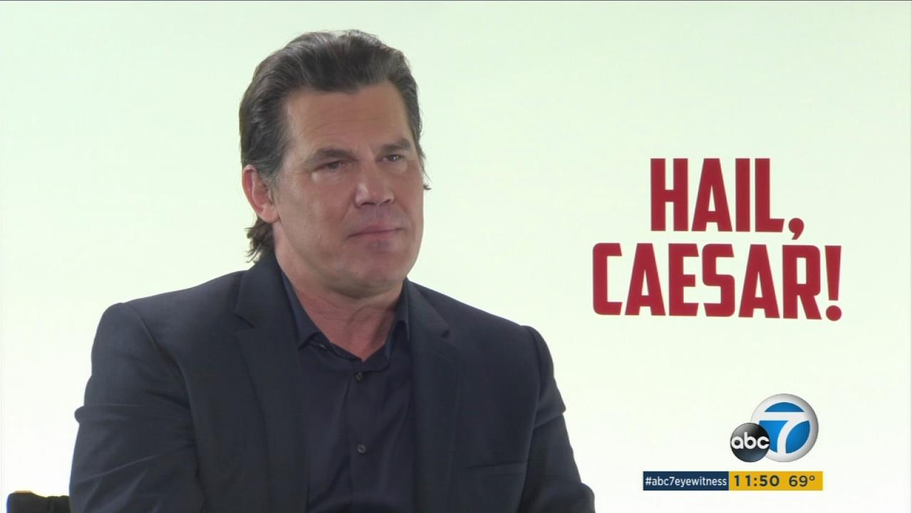 Actor Josh Brolin is shown during an interview for his latest movie Hail, Caesar!