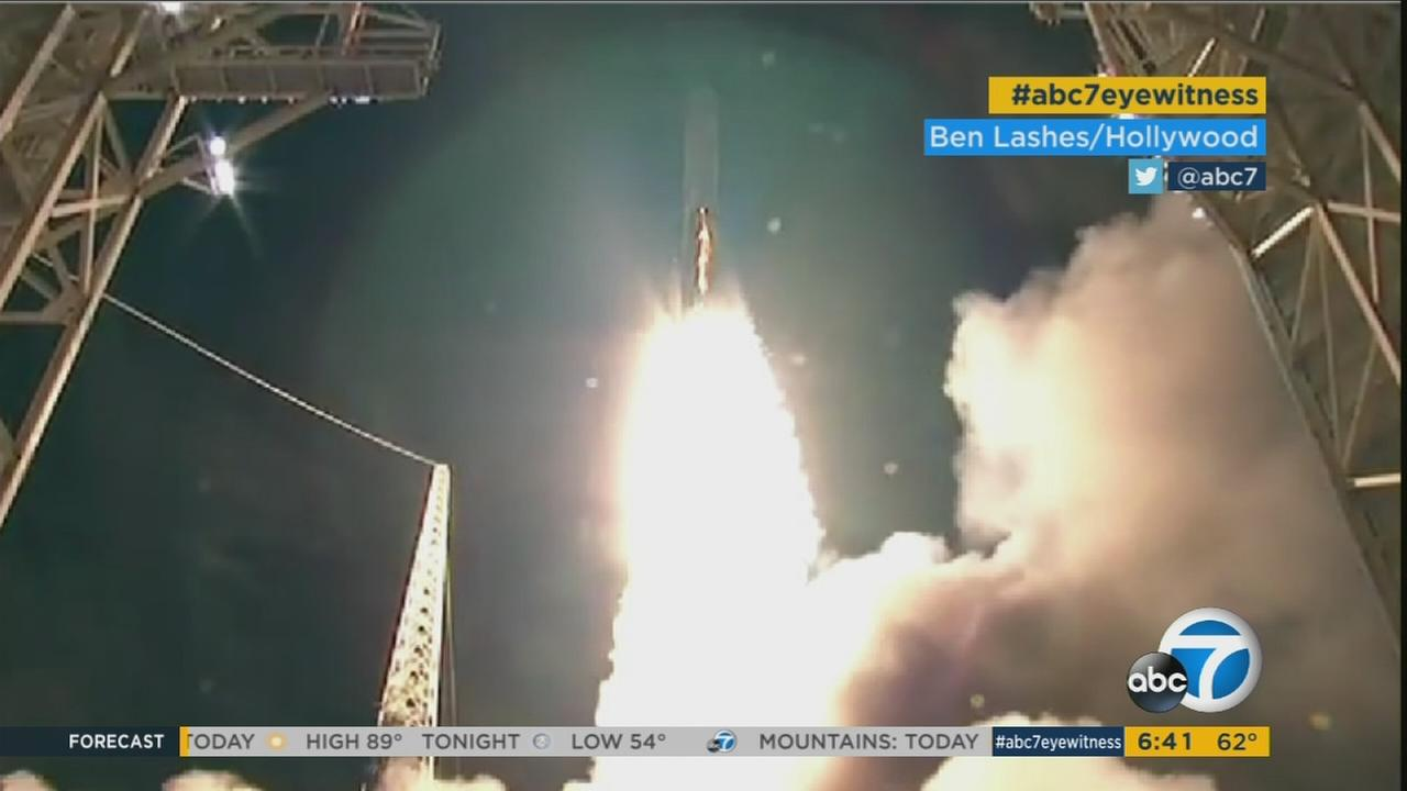 A rocket successfully launched from the Vandenberg Air Force Base in Central California.