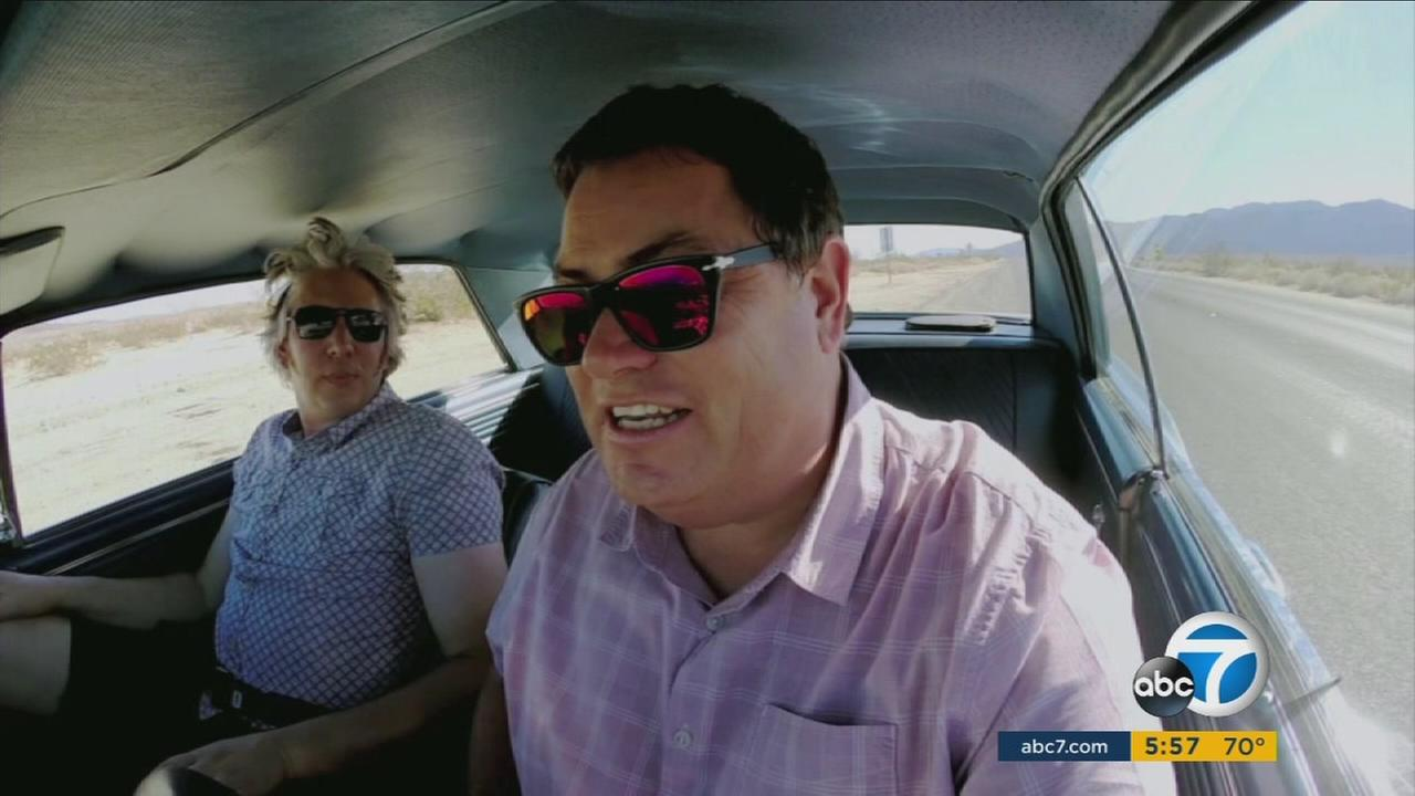 Edd China and Mike Brewer, stars of the hit reality TV series Wheeler Dealers, gives ABC7 an inside look at their Huntington Beach garage.