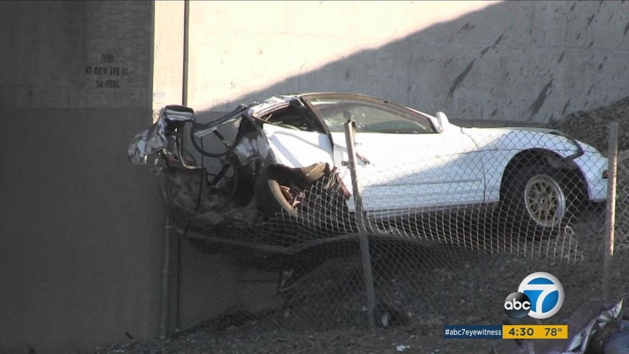 A suspected car thief died in a Loma Linda collision after he was chased by the vehicles owner.