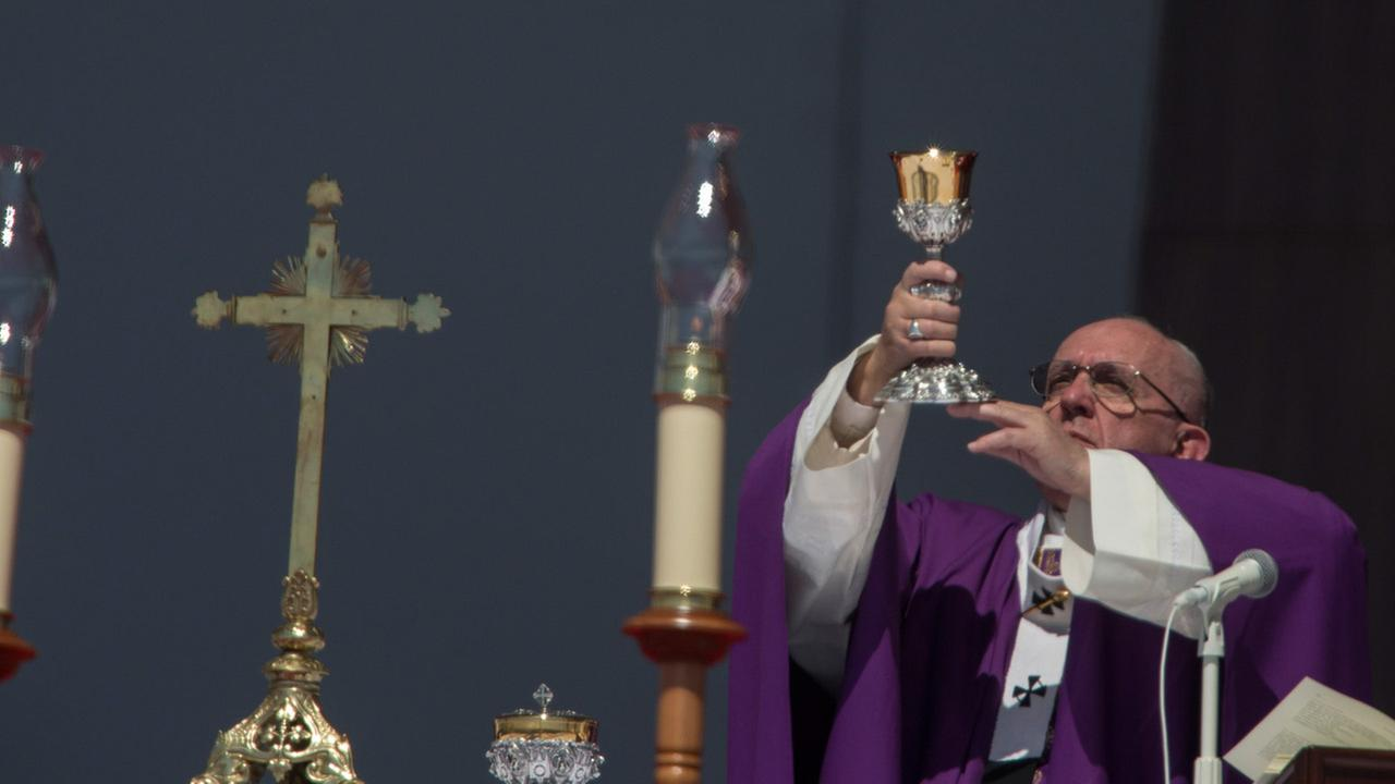 Pope Francis celebrates Mass in Ecatepec, Mexico, Sunday, Feb. 14, 2016.