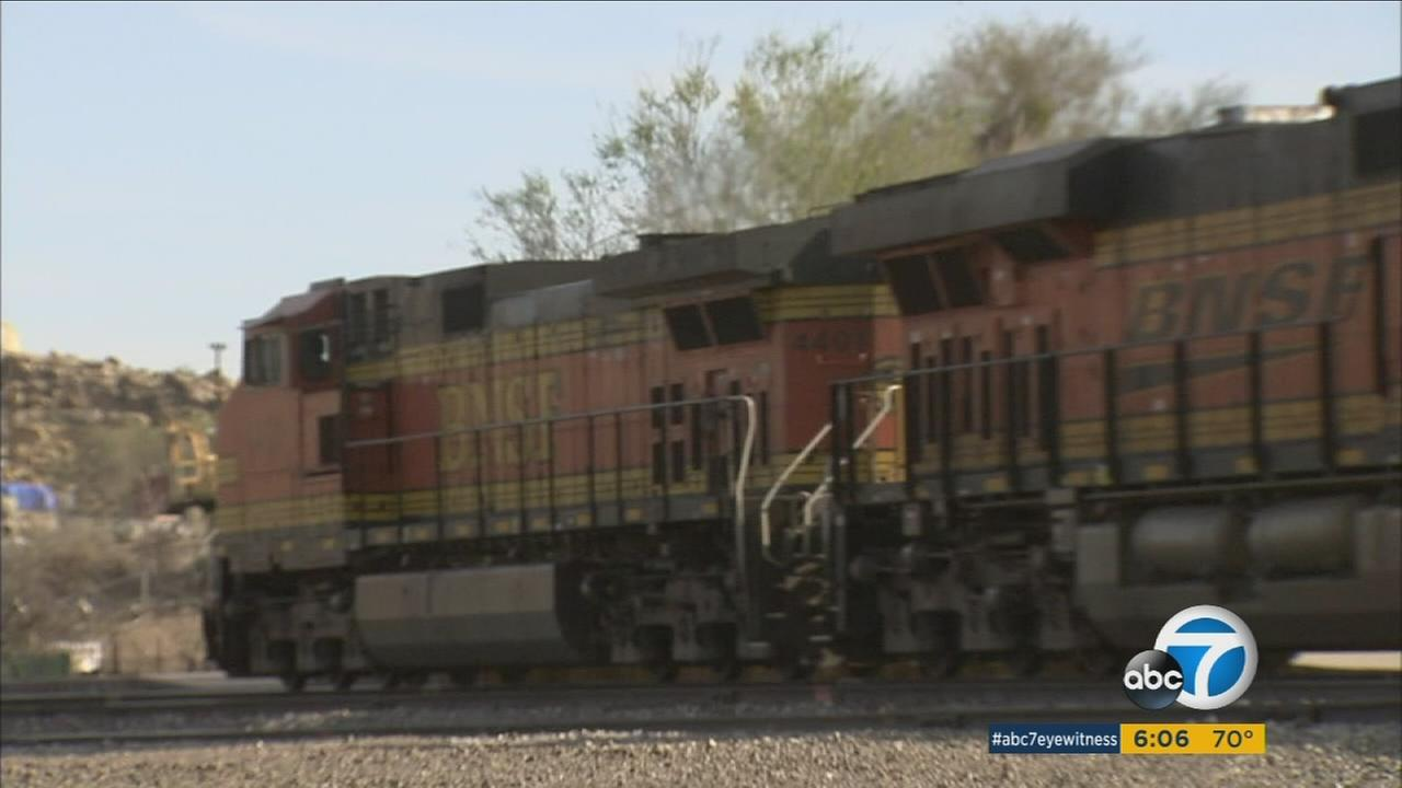 A woman in Victorville is accused of trying to take a train locomotive for a joy ride in the middle of the night.