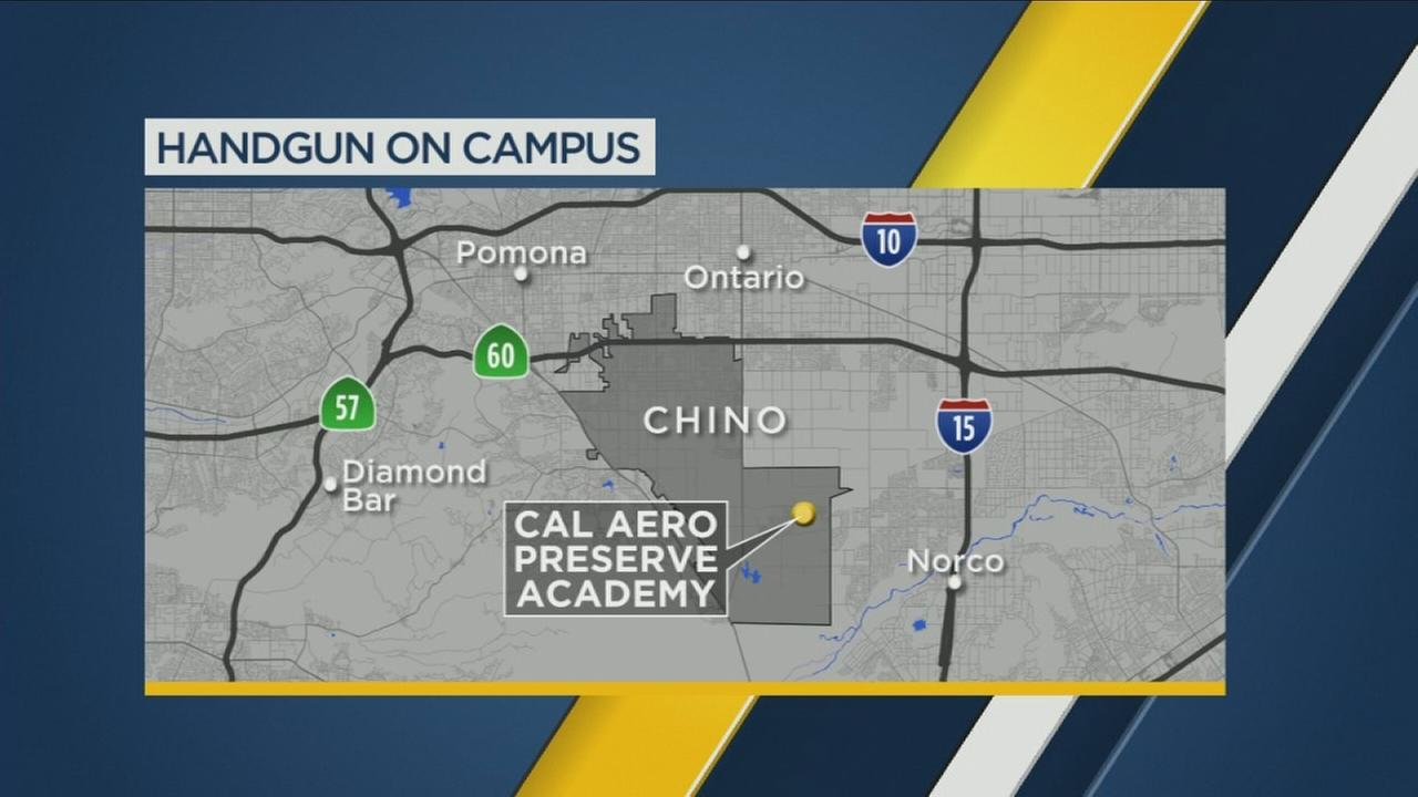 A student brought a loaded .22 handgun to a Chino school because of bullying concerns.