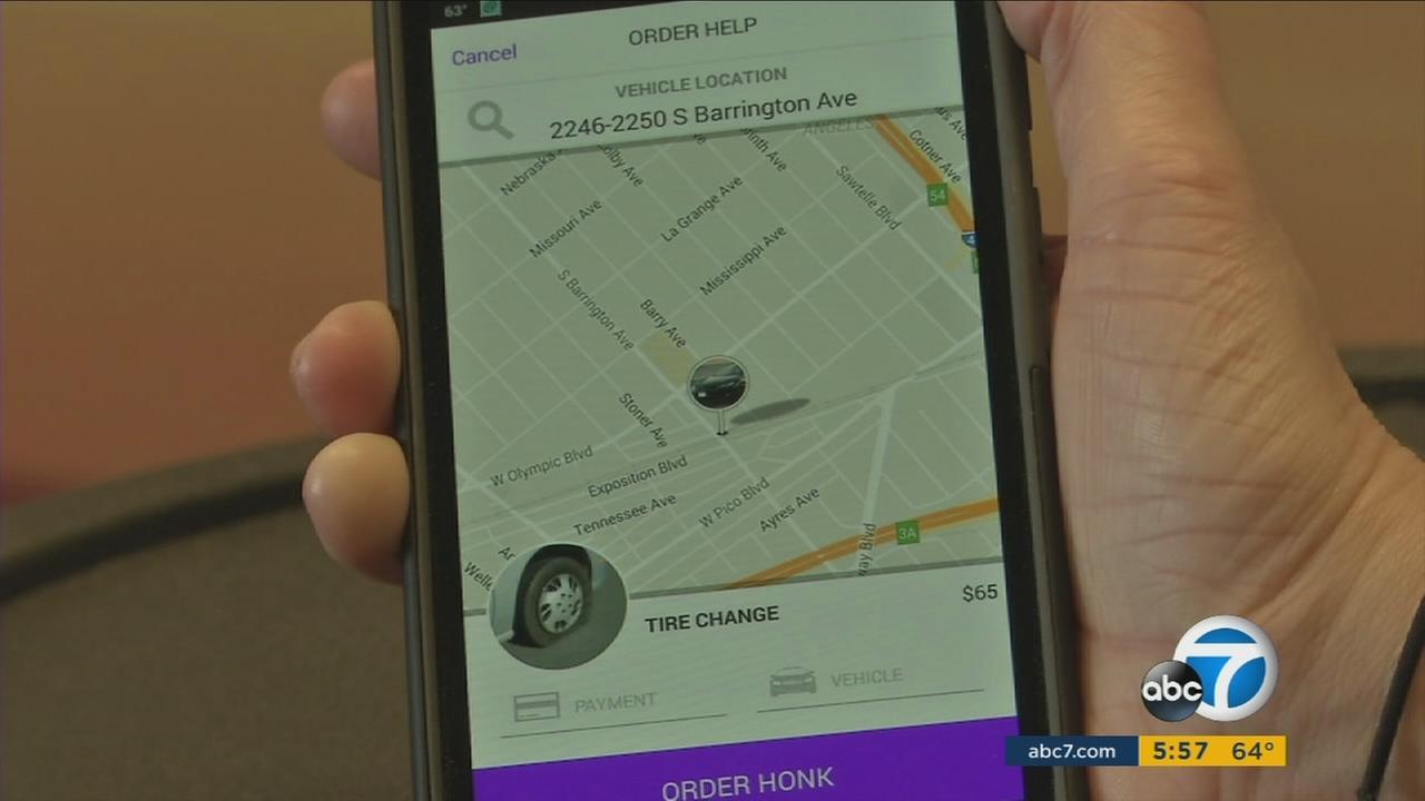 A new phone app called Honk is designed to be an Uber for tow trucks and roadside assistance.