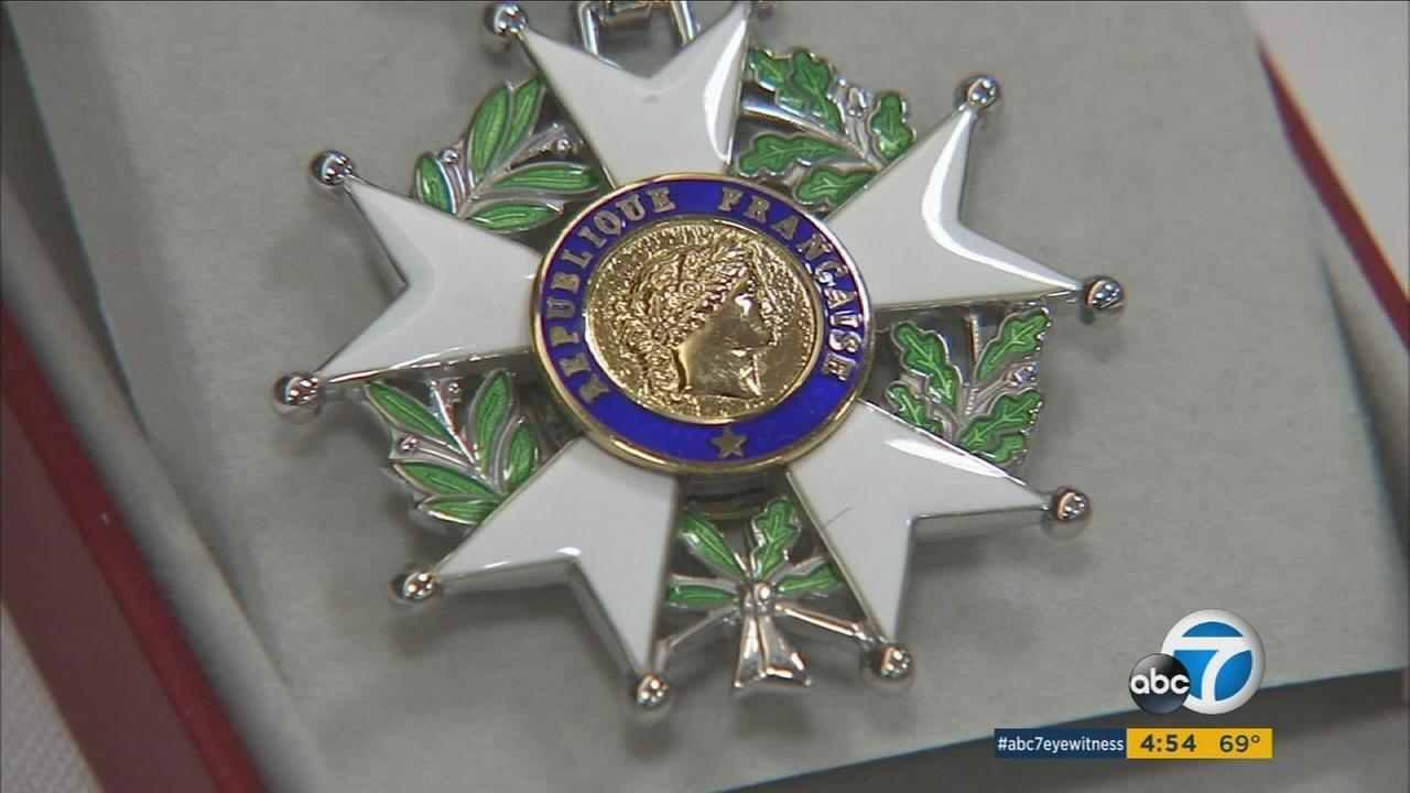 The French government awarded its highest civilian honor to 10 American WWII veterans from the Southland.