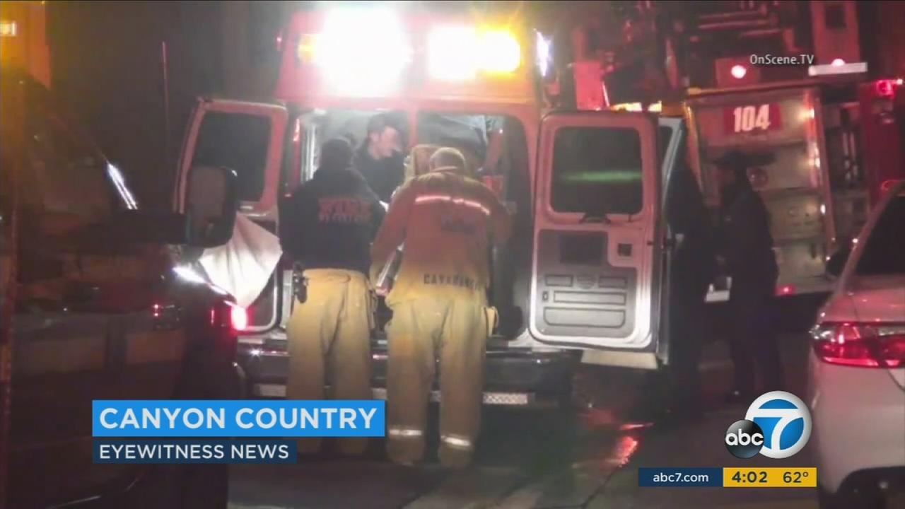 An intruder was shot and killed at an apartment in Canyon Country on Friday, March 12, 2016, according to the Los Angeles County Sheriffs Department.