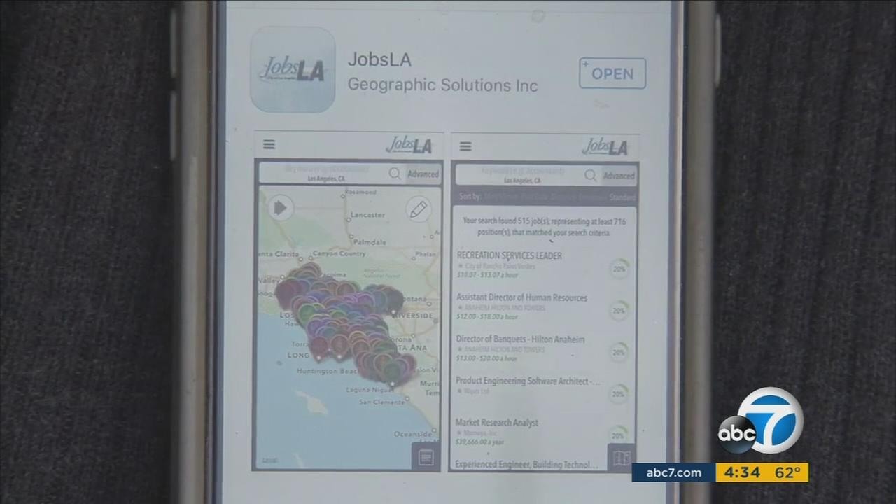 The JobsLA app will allow job seekers in Los Angeles County to search through one app that filters 20,000 websites.