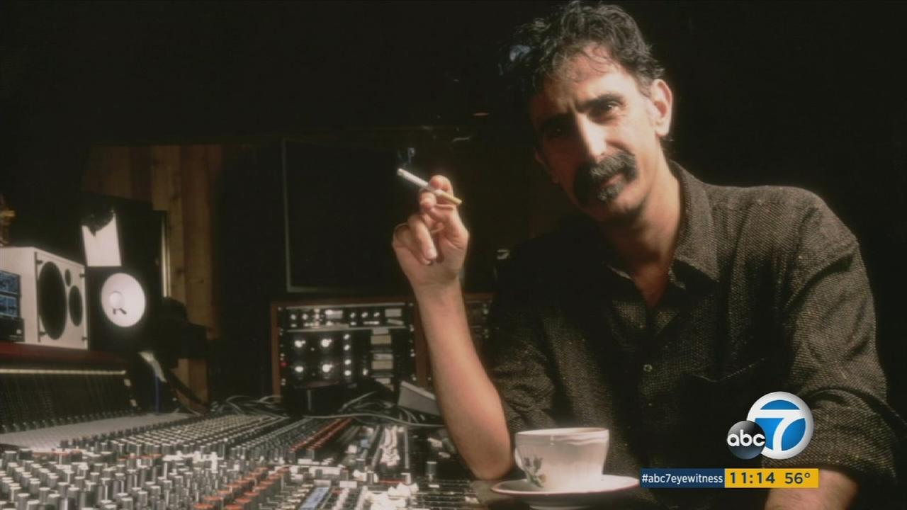 An undated photo of musician Frank Zappa.