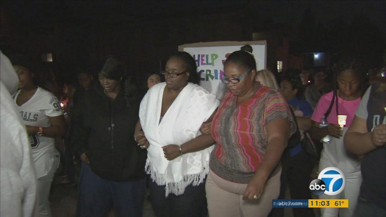 A vigil was held for 12-year-old Jason Spears, who was gunned down in San Bernardino.