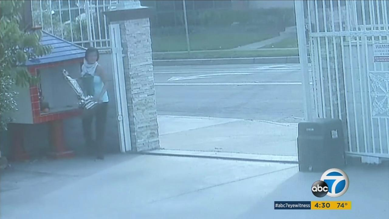 Trang Pham, 46, caught on surveillance video stealing Buddha statues from a Santa Ana temple in this undated photo.