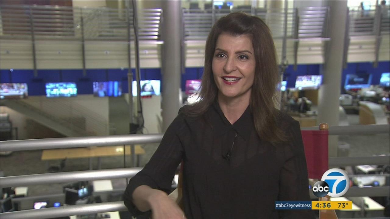 Nia Vardalos, star of My Big Fat Greek Wedding 2, is shown during an interview.