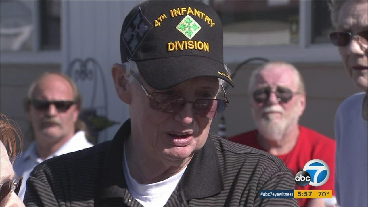 Dale Baldwin, a veteran of the Korean and Vietnam wars, is one of 250 low-income seniors the owner of Rancho Calimesa Mobile Home Park is petitioning to raise rent  for.