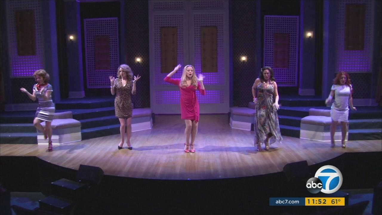 The cast of The Real Housewives of Toluca Lake perform at the Falcon Theatre in Toluca Lake.