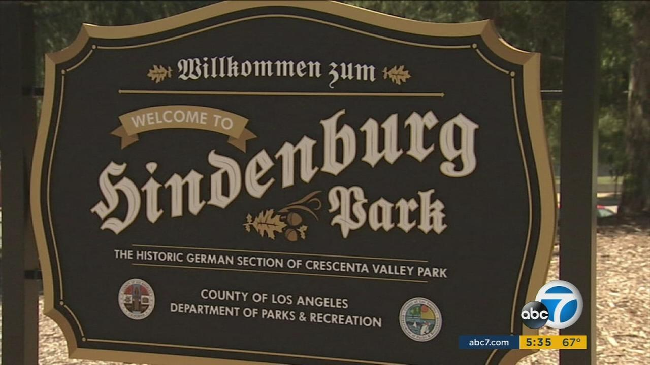 The new welcome sign at Crescenta Valley Park is shown in an undated photo.
