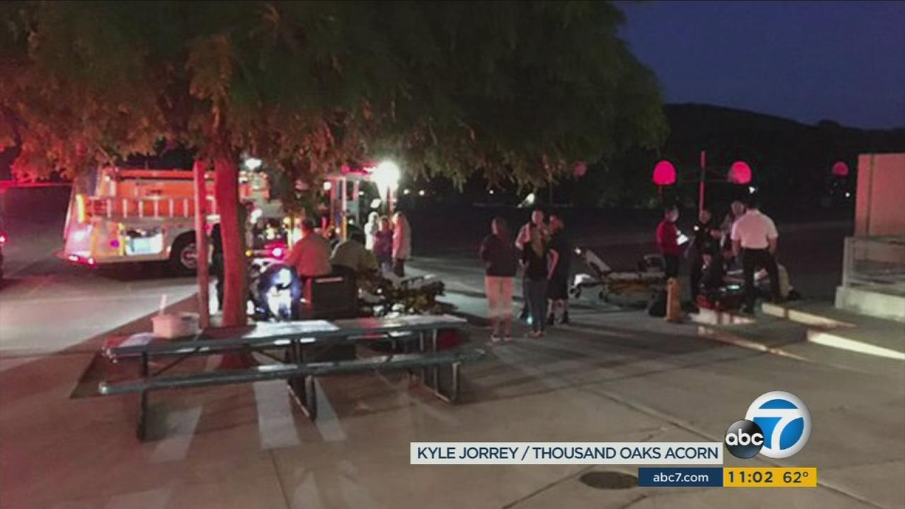 One person was killed and another injured after a hobby rocket explosion at Madrona Elementary School in Thousand Oaks on Monday, April 4, 2016.