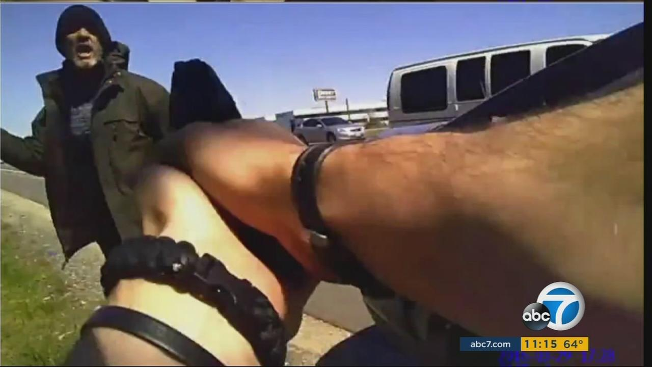 Incredible body cam video shows a police officer shooting a man who was armed with a knife in Glendale, Ohio.
