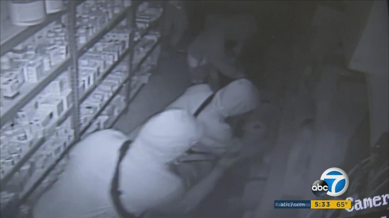 At least five pharmacies were burglarized in Orange County overnight, and authorities are working to determine if the crimes are connected.