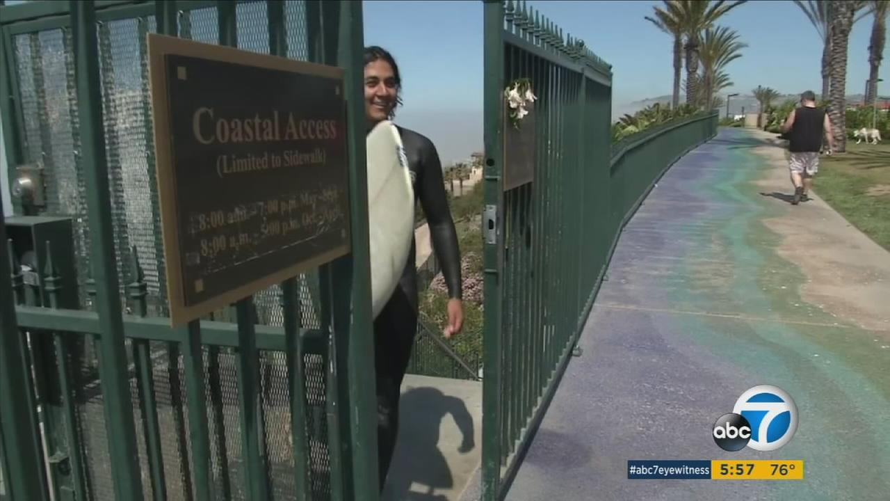 A tentative settlement in a six-year legal battle is expected to open up gated access to Strands Beach in Dana Point.