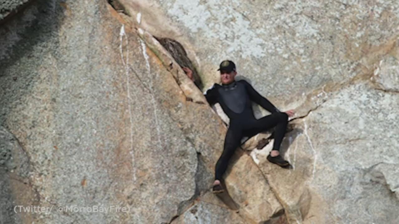 A man who had to be rescued when he climbed a California cliff to propose to his girlfriend later was found to be high on methamphetamine.