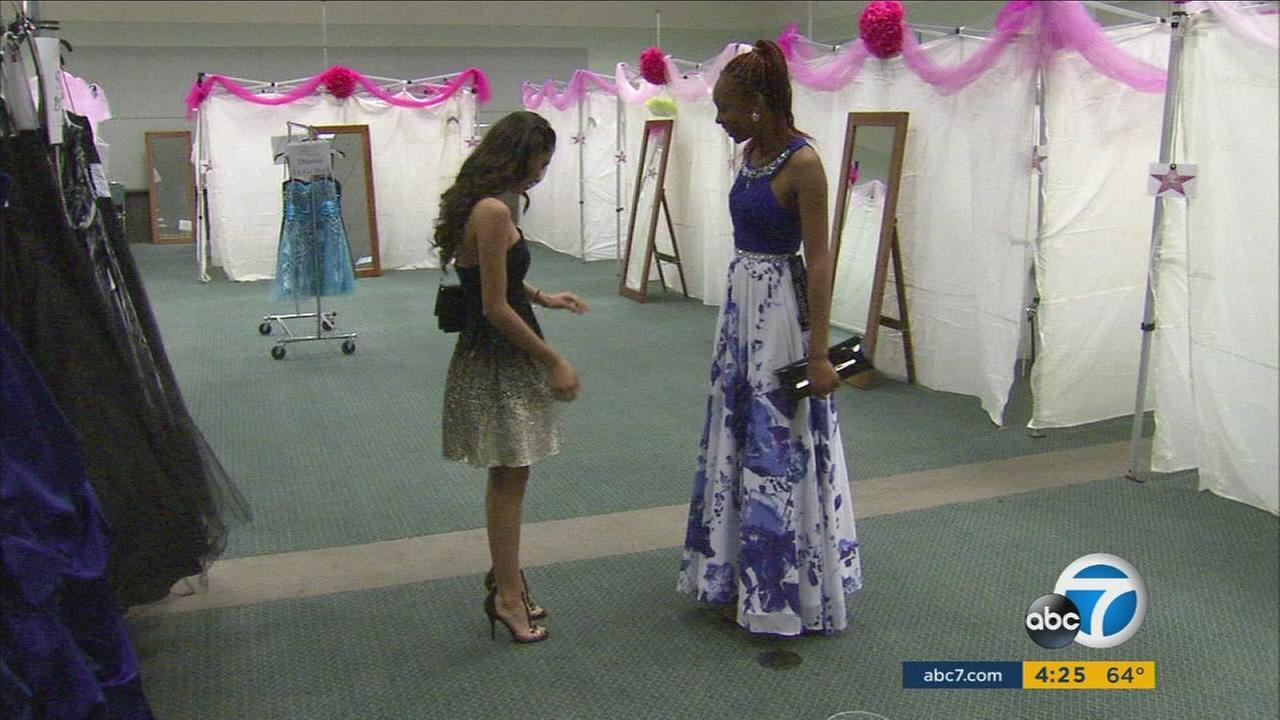 Hundreds of teenagers in foster care received free dresses and suits for prom through Glamour Gowns and Suit Up.