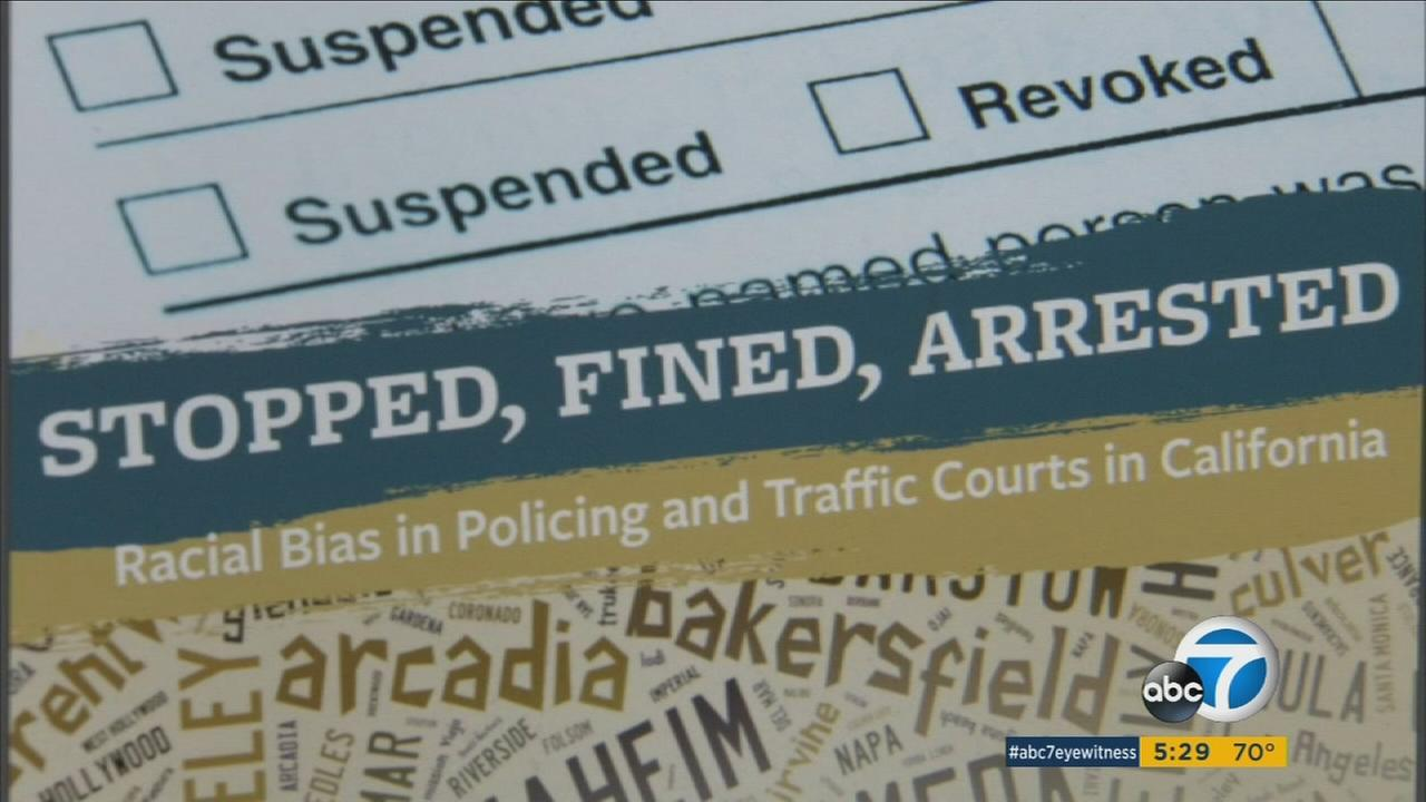A study shows that minority California drivers lose their license for unpaid tickets at disproportionate numbers.