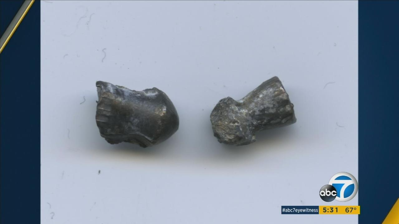 Newport Beach police are looking for whoever shot these pellets at three people over two days.