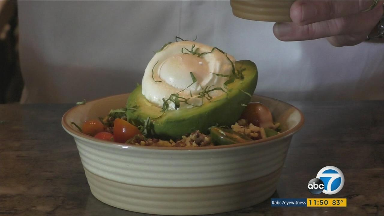 Chef Manfred Lassahn showcases a savory breakfast bowl in this photo.