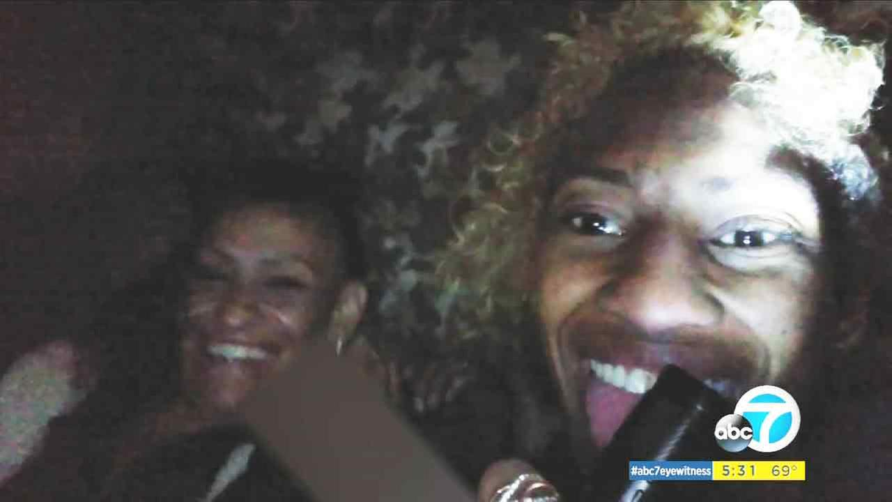 Two people in a selfie from a phone that was stolen from a woman just hours before on Saturday, April 30, 2016.