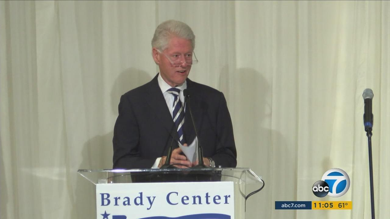 Bill Clinton was in Southern California campaigning on behalf of Hillary Clinton on Wednesday, May 4, 2016.