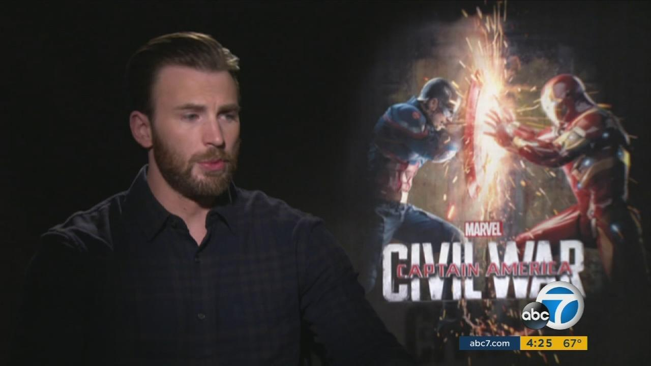 Chris Evans portrays Steve Rogers in Captain America: Civil War.