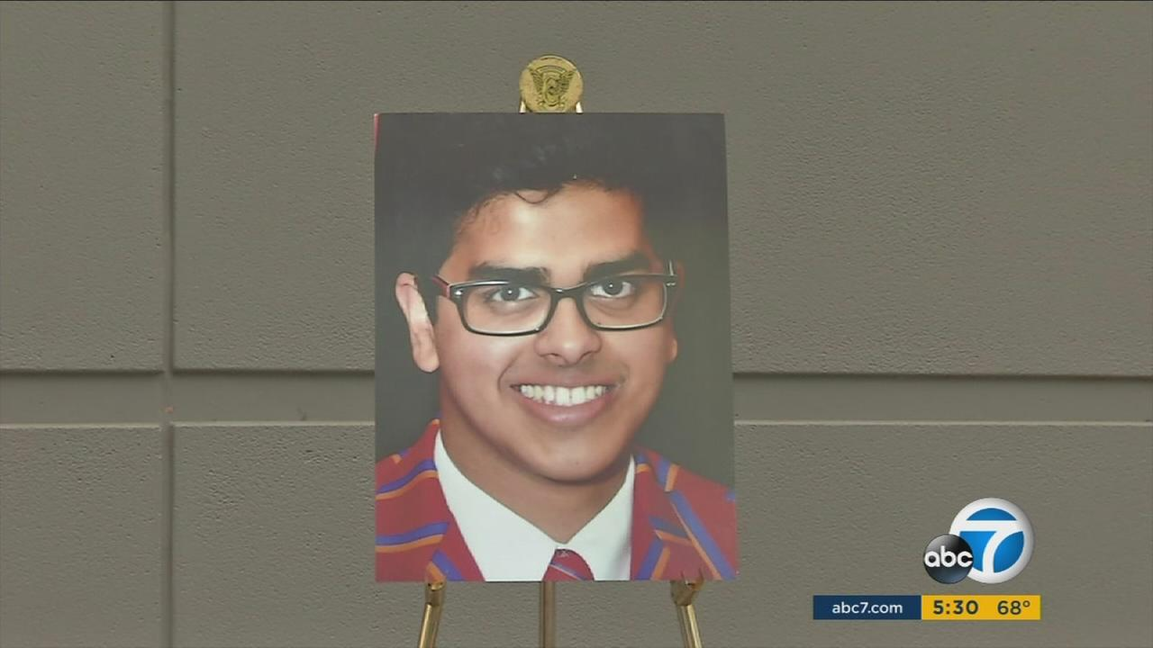 Rishi Chaubal-Menon, 18, is shown in an undated photo.