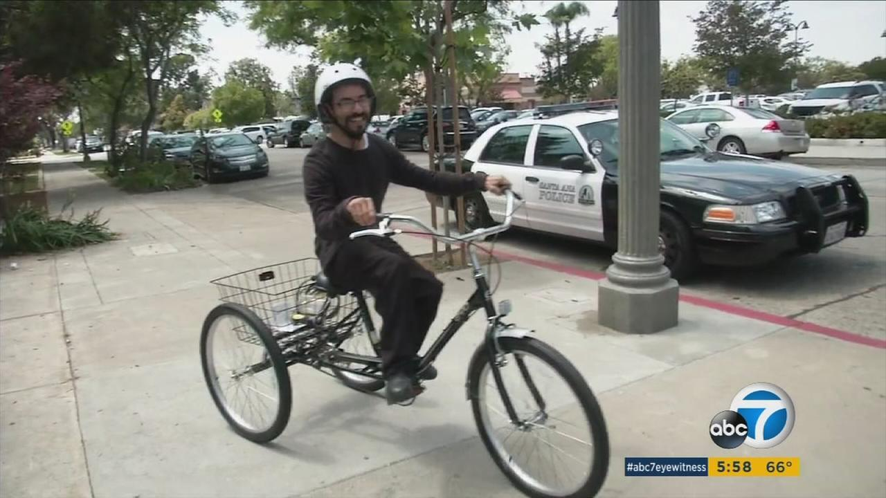 Henry Romero, who has cerebral palsy, has worked at the Taco Bell in Santa Ana for the last 15 years. His only means of transportation was an adult tricycle. That was until it was stolen.