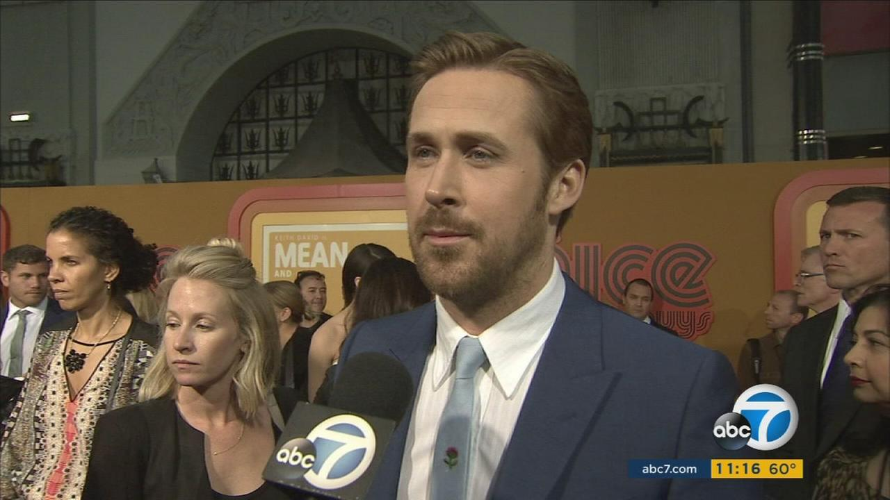 Ryan Gosling is shown during the premiere of his new movie The Nice Guys.